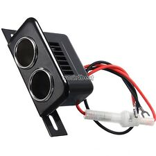 12v Female Car Cigar Cigarette Lighter Double Socket Plug Connector Adapter WST