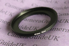 40,5mm to 52mm Male-Female Stepping Step Up Filter Ring Adapter 40,5mm-52mm UK