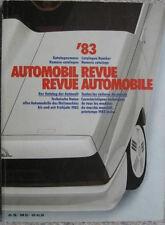 Automobil Revue Katalog 1983