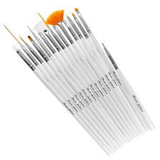 15pcs Acrylic Nail Art Design Detailing Brushes Manicure Tool Kit Painting Set