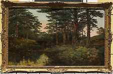 Henry Allan (Irish 1865-1912) Original Woody Landscape Large Oil Painting Signed