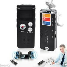 Digital Voice Sound Recorder Dictaphone MP3 Player Record Steel Rechargeable US