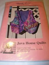 PATCHWORK VEST PATTERN PROJECT CRAFT DESIGN FABRIC SEWING WEARABLE ART XS-L