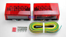 Boat Trailer Sealed LED Submersible Light Kit w/ 25' Wiring Harness and Hardware