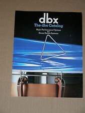 DBX vintage catalog (scan/copy): 224X, 4BX, 3BX III, 1BX III, 120X, 10/20, more.