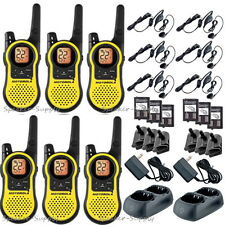 Motorola Talkabout MH230TPR Walkie Talkie 6 Pack Set 23 Mile Range Two Way Radio