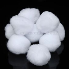 10X Large White Fluffy Pom Poms Balls 50mm For DIY Craft Clothes Cap Hairpin Toy