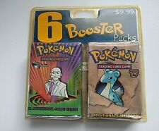 Rare Format 6 Booster Pack Blister Pokemon Cards New and Sealed Various Sets