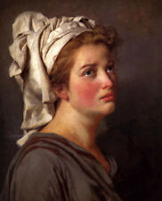 Oil painting Jacques Louis David - Portrait of a Young Woman in a Turban canvas