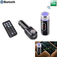 FM Transmitter Wireless Bluetooth Handsfree with USB/SD/Card Reader MMC + Remote