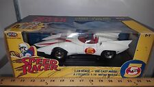 1/18 ERTL/JOYRIDE SPEED RACER TV SHOW MACH 5 WHITE & RED with MONKEY FIGURINE rd