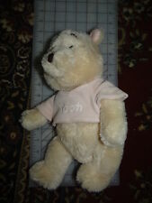 "Disney Baby Winnie the Pooh Plush Pastel 14"" Disney Authentic Original patch"