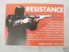 IRISH REPUBLICAN RESISTANCE BOBBY SANDS POSTCARD COLLECTORS ITEM