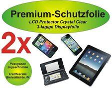 2x Premium-Schutzfolie 3-lagig Huawei Ascend P1 - kratzfest - blasenfrei