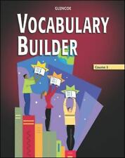 Vocabulary Builder, Course 5, Student Edition by McGraw-Hill, Glencoe