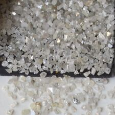 10 Monitores Crt + suelto sin cortar diamantes en bruto Blanco 100% natural Real 1.25-2.00mm £ 23.99!