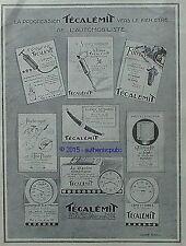PUBLICITE TECALEMIT GRAISSAGE FILTRE COMPTE TOURS COMPTEUR AUTOMOBILE DE 1926 AD