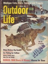 1/1968 Outdoor Life Magazine     Coho Coyotes Wolves    1968 Boats & Motors