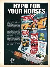 1970 Tek Total Power Oil & Gas Energizer Hypo For Your Horses Print Ad