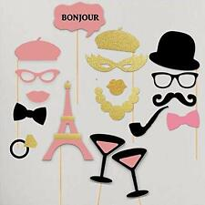 Paper Gala Bachelorette Hen Party Paris France Pink Gold Theme Photobooth Props