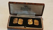 9 carat gold vintage Art Deco antique pair of cufflinks