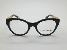 NEW Dolce & Gabbana D&G DG 3184 501 Black/Gold 48mm Eyeglasses w/ Box