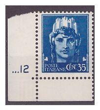 REGNO 1929  -  IMPERIALE   CENTESIMI 35   NUOVO  **   NUMERO DI TAVOLA