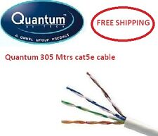 Quantum 305 mtrs Cat5e Networking lan cable roll, Cat 5 4 pair Ethernet cable