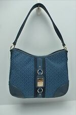 TOMMY HILFIGER Woman's Handbag *Navy Blue w/Gold Hobo Satchel Tote Purse  $85