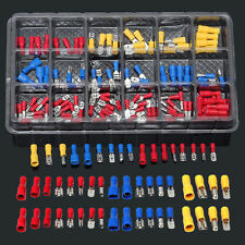 120pcs Crimp Butt Terminals Insulated Electrical Wire Assorted Kit Box 22-10AWG