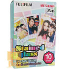 NEW BOXED FUJI INSTAX FILM 1 PACK (10PCS ) / STAINED GLASS 4 MINI 8 7S 50S SP-1