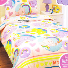 Care Bears - Rainbows - Single/US Twin Bed Quilt Doona Duvet Cover set