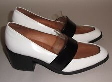 Jeffrey Campbell White & Black Patent Leather w/ Clear Vamp Irving Loafer Size 7