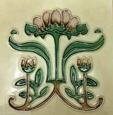 10 Fabulous Art Nouveau Mission Fireplace Tiles Majolica Tubelined Perfect NR