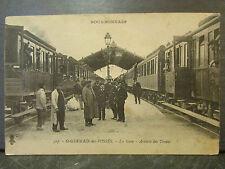 cpa 03 st germain des fosses la gare arrivee des trains animee
