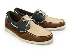 New TIMBERLAND 6502R 2-EYE TRI TONE BOAT  men's leather SHOES   sz 12  ($135)