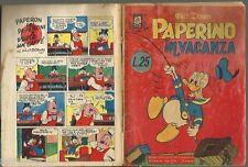 ALBI DELLA ROSA   # 67 - PAPERINO IN VACANZA  -19 / 2 / 1956 - ORIGINALE