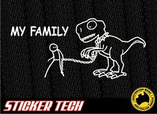 MY FAMILY DINOSAUR STICKER DECAL MADE TO SUIT 4X4 4WD UTE PICKUP TRUCK VW KOMBI