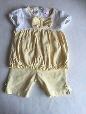 Ropa de bebé niñas 3-6 meses-Verano Lindo traje-Top con volantes y pantalones cortos