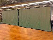 Lot of (2) New! Tan Curtain/Stage Backdrop, Non-FR, 10 H x 15 W