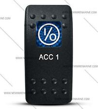 Labeled Contura II Rocker Switch Cover ONLY, ACC 1-Blue Wnd (No Switch Body)