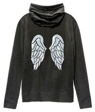 NWT Victorias Secret Sequin Angel Wing Bling Supermodel Hoodie Jacket Grey M