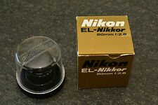 nikon EL-nikkor, 50 2.8, 99% mint, origi boxed, super sharp, beautiful