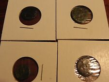 LOT OF 4 MISC. ANCIENT ROMAN COINS   )