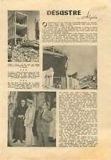 Tremblement de Terre Chlef Orléansville Algérie Algeria Africa 1954 ILLUSTRATION
