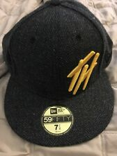 The Hundreds Fitted New Era Hat Wool Grey Th Logo Size 7 7/8