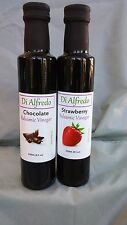 2 PACK CHOCOLATE STRAWBERRY BALSAMIC VINEGAR  MODENA ITALY  250 ML - 8 OZ BEST