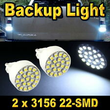 2x Bright White 3156 Car Backup Reverse Light Bulbs 22-SMD LED 3056 3155 293