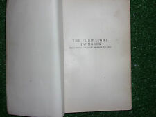PITMANS BOOK OF THE FORD EIGHT ANGLIA POPULAR TUDOR & VANS / POCKET MANUAL 33-53