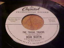 """""""PROMO"""" DEAN MARTIN 45 RPM CAPITOL F3787 THE TRICHE TRACHE PROMISE HER ANYTHING"""